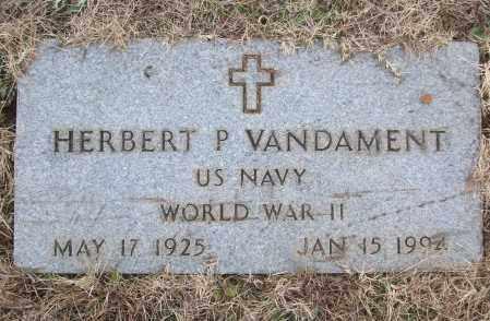 VANDAMENT (VETERAN WWII), HERBERT P - White County, Arkansas   HERBERT P VANDAMENT (VETERAN WWII) - Arkansas Gravestone Photos