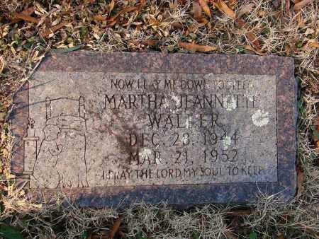 WALLER, MARTHA JEANNETTE - White County, Arkansas   MARTHA JEANNETTE WALLER - Arkansas Gravestone Photos