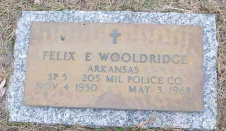 WOOLDRIDGE (VETERAN), FELIX E - White County, Arkansas | FELIX E WOOLDRIDGE (VETERAN) - Arkansas Gravestone Photos