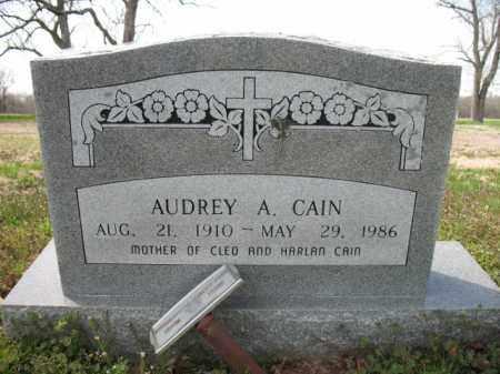 CAIN, AUDREY A - Woodruff County, Arkansas   AUDREY A CAIN - Arkansas Gravestone Photos