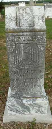 DEDMAN, MARGARET F - Woodruff County, Arkansas   MARGARET F DEDMAN - Arkansas Gravestone Photos