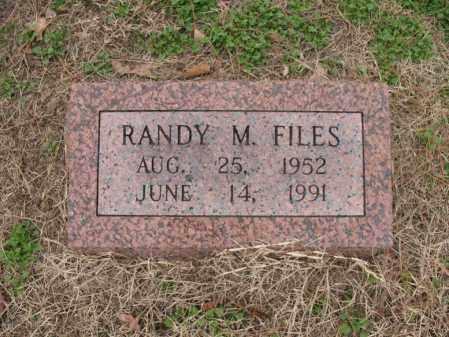 FILES, RANDY M - Woodruff County, Arkansas   RANDY M FILES - Arkansas Gravestone Photos