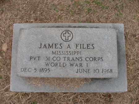 FILES (VETERAN WWI), JAMES A - Woodruff County, Arkansas   JAMES A FILES (VETERAN WWI) - Arkansas Gravestone Photos