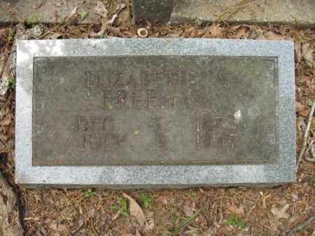 FREEMAN, ELIZABETH S - Woodruff County, Arkansas   ELIZABETH S FREEMAN - Arkansas Gravestone Photos