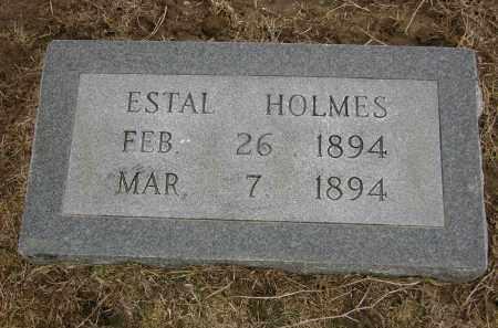 HOLMES, ESTAL - Woodruff County, Arkansas | ESTAL HOLMES - Arkansas Gravestone Photos