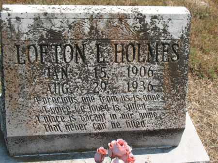 HOLMES, LOFTON E - Woodruff County, Arkansas   LOFTON E HOLMES - Arkansas Gravestone Photos
