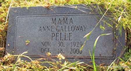 GALLOWAY PELLE, ANNE - Woodruff County, Arkansas   ANNE GALLOWAY PELLE - Arkansas Gravestone Photos