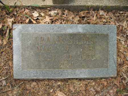 SIEBER, FRANK - Woodruff County, Arkansas | FRANK SIEBER - Arkansas Gravestone Photos