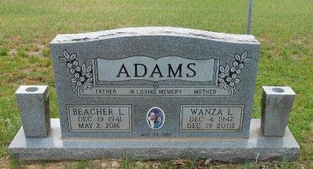 ADAMS, BEACHER L - Yell County, Arkansas   BEACHER L ADAMS - Arkansas Gravestone Photos