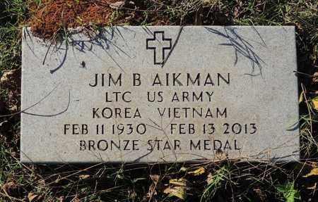 AIKMAN IVETERAN 2 WARS), JIM B - Yell County, Arkansas   JIM B AIKMAN IVETERAN 2 WARS) - Arkansas Gravestone Photos