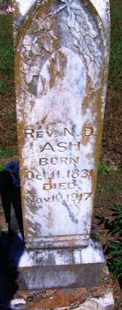 ASH, N D, REV - Yell County, Arkansas   N D, REV ASH - Arkansas Gravestone Photos