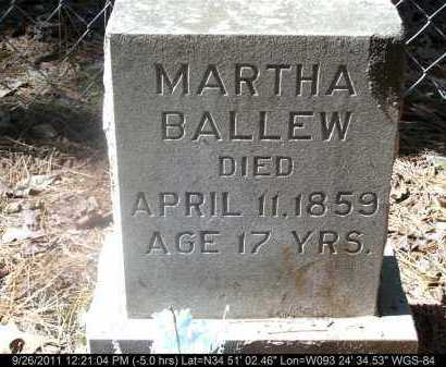 BALLEW, MARTHA - Yell County, Arkansas | MARTHA BALLEW - Arkansas Gravestone Photos