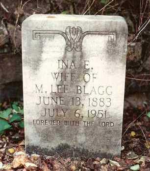 BLAGG, INA E - Yell County, Arkansas | INA E BLAGG - Arkansas Gravestone Photos