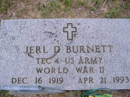 BURNETT (VETERAN WWII), JERL D - Yell County, Arkansas | JERL D BURNETT (VETERAN WWII) - Arkansas Gravestone Photos