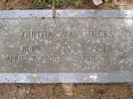 HICKS, GIRTHA MAE - Yell County, Arkansas | GIRTHA MAE HICKS - Arkansas Gravestone Photos