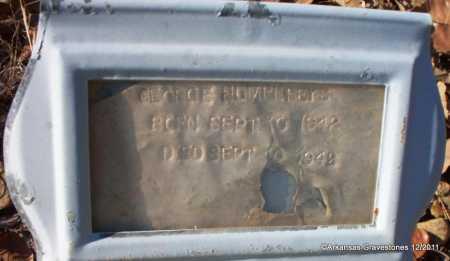 HUMPHREYS, GEORGE - Yell County, Arkansas   GEORGE HUMPHREYS - Arkansas Gravestone Photos