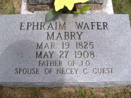 MABRY, EPHRAIM WAFER - Yell County, Arkansas | EPHRAIM WAFER MABRY - Arkansas Gravestone Photos