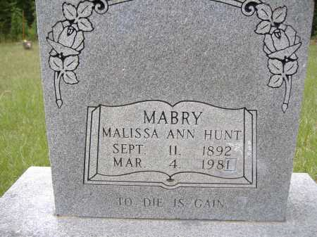HUNT MABRY, MALISSA ANN - Yell County, Arkansas | MALISSA ANN HUNT MABRY - Arkansas Gravestone Photos