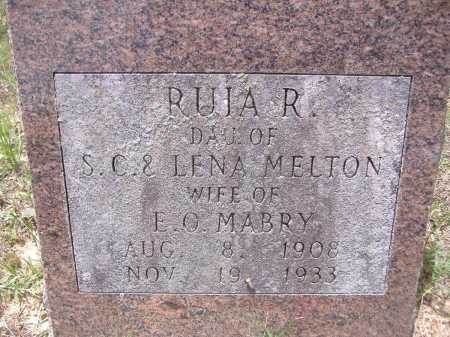 MELTON MABRY, RUIA R - Yell County, Arkansas | RUIA R MELTON MABRY - Arkansas Gravestone Photos