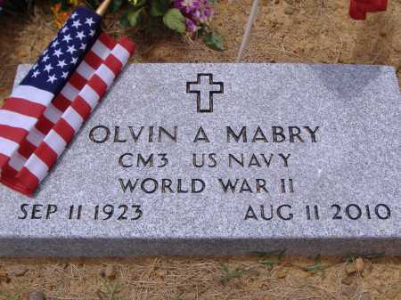 MABRY (VETERAN WWII), OLVIN A - Yell County, Arkansas   OLVIN A MABRY (VETERAN WWII) - Arkansas Gravestone Photos