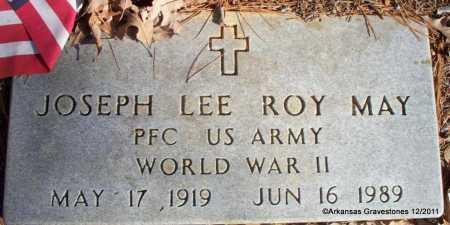 MAY (VETERAN WWII), JOSEPH LEE ROY - Yell County, Arkansas | JOSEPH LEE ROY MAY (VETERAN WWII) - Arkansas Gravestone Photos