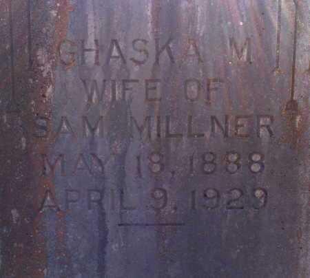 MILLNER, GHASKA M (CLOSE UP 2) - Yell County, Arkansas | GHASKA M (CLOSE UP 2) MILLNER - Arkansas Gravestone Photos