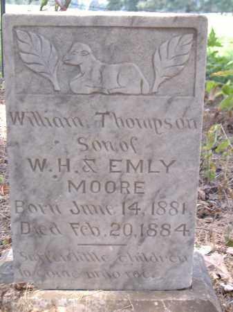 MOORE, WILLIAM THOMPSON - Yell County, Arkansas   WILLIAM THOMPSON MOORE - Arkansas Gravestone Photos