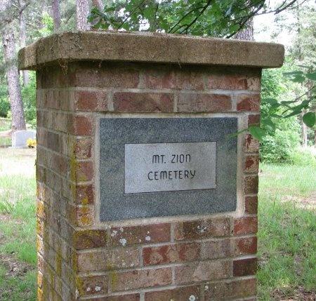 *MT ZION SIGN,  - Yell County, Arkansas |  *MT ZION SIGN - Arkansas Gravestone Photos