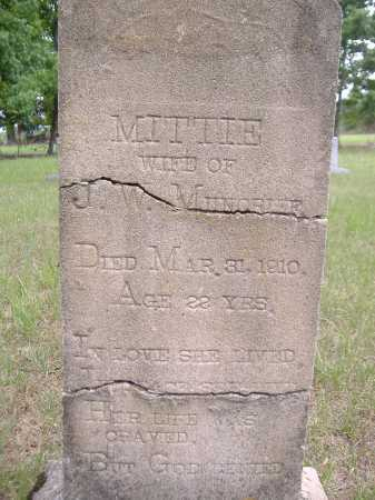 MUNCRIEF, MITTIE - Yell County, Arkansas | MITTIE MUNCRIEF - Arkansas Gravestone Photos