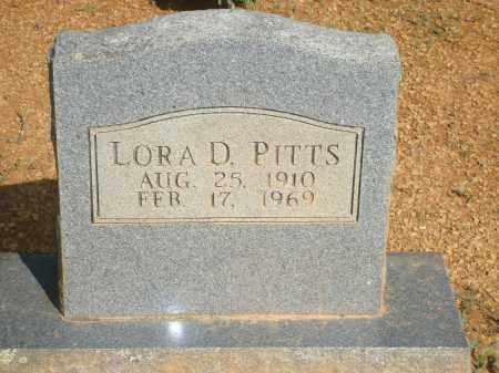 PITTS, LORA D - Yell County, Arkansas | LORA D PITTS - Arkansas Gravestone Photos