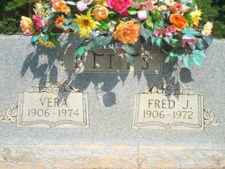 PITTS, FRED J - Yell County, Arkansas | FRED J PITTS - Arkansas Gravestone Photos