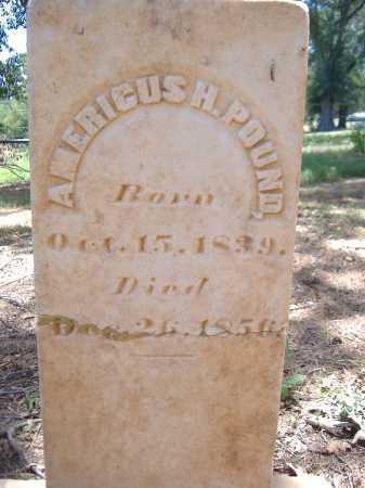 POUND, AMERICUS HALL - Yell County, Arkansas   AMERICUS HALL POUND - Arkansas Gravestone Photos