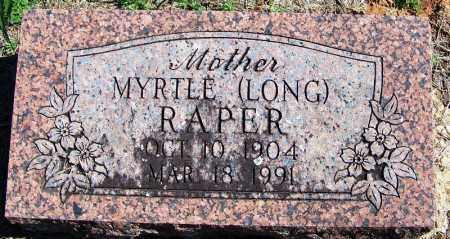 LONG RAPER, MYRTLE - Yell County, Arkansas   MYRTLE LONG RAPER - Arkansas Gravestone Photos