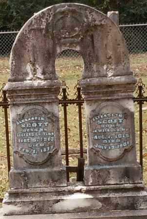 LOGAN SCOTT, ELIZABETH CRAWFORD - Yell County, Arkansas | ELIZABETH CRAWFORD LOGAN SCOTT - Arkansas Gravestone Photos