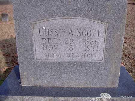 PIKE SCOTT, GUSSIE A - Yell County, Arkansas | GUSSIE A PIKE SCOTT - Arkansas Gravestone Photos