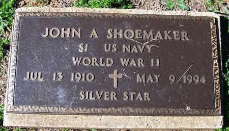 SHOEMAKER (VETERAN WWII), JOHN A - Yell County, Arkansas   JOHN A SHOEMAKER (VETERAN WWII) - Arkansas Gravestone Photos