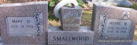 SMALLWOOD, HENRY M - Yell County, Arkansas   HENRY M SMALLWOOD - Arkansas Gravestone Photos
