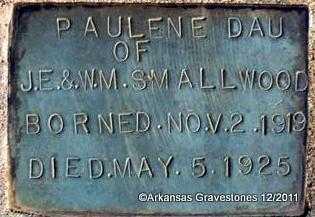 SMALLWOOD, PAULINE - Yell County, Arkansas | PAULINE SMALLWOOD - Arkansas Gravestone Photos
