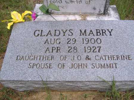 MABRY SUMMIT, GLADYS - Yell County, Arkansas | GLADYS MABRY SUMMIT - Arkansas Gravestone Photos