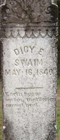 SWAIM, DICY E - Yell County, Arkansas   DICY E SWAIM - Arkansas Gravestone Photos