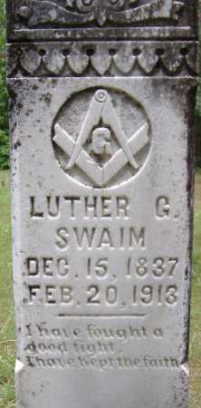 SWAIM, LUTHER G - Yell County, Arkansas   LUTHER G SWAIM - Arkansas Gravestone Photos
