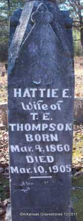 THOMPSON, HATTIE E - Yell County, Arkansas   HATTIE E THOMPSON - Arkansas Gravestone Photos