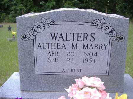 WALTERS, ALTHEA M - Yell County, Arkansas | ALTHEA M WALTERS - Arkansas Gravestone Photos