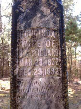 KILLIAN WILLARD, LOUCINDA - Yell County, Arkansas | LOUCINDA KILLIAN WILLARD - Arkansas Gravestone Photos