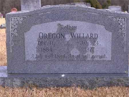 WILLARD, OREGON - Yell County, Arkansas   OREGON WILLARD - Arkansas Gravestone Photos