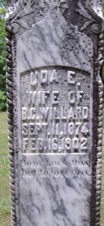 WILLARD, UDA E - Yell County, Arkansas   UDA E WILLARD - Arkansas Gravestone Photos