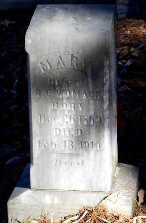 WOMACK, MARY - Yell County, Arkansas | MARY WOMACK - Arkansas Gravestone Photos