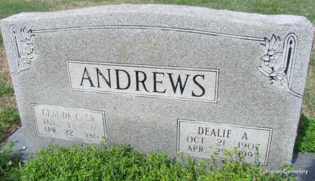 ANDREWS, SR, CALUDE C - Arkansas County, Arkansas | CALUDE C ANDREWS, SR - Arkansas Gravestone Photos
