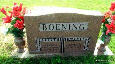 BOENING, DOROTHY D - Arkansas County, Arkansas | DOROTHY D BOENING - Arkansas Gravestone Photos