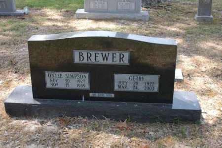 BREWER, ONTEE - Arkansas County, Arkansas | ONTEE BREWER - Arkansas Gravestone Photos